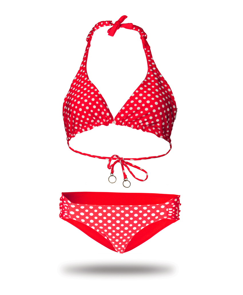 bikini red with with point