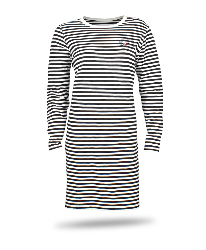dress with stripe black and white