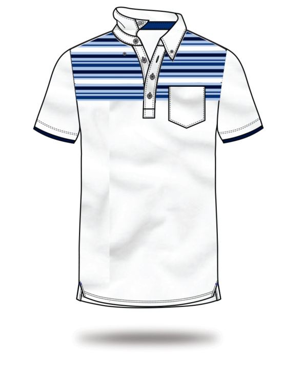 sketch polo blue and white