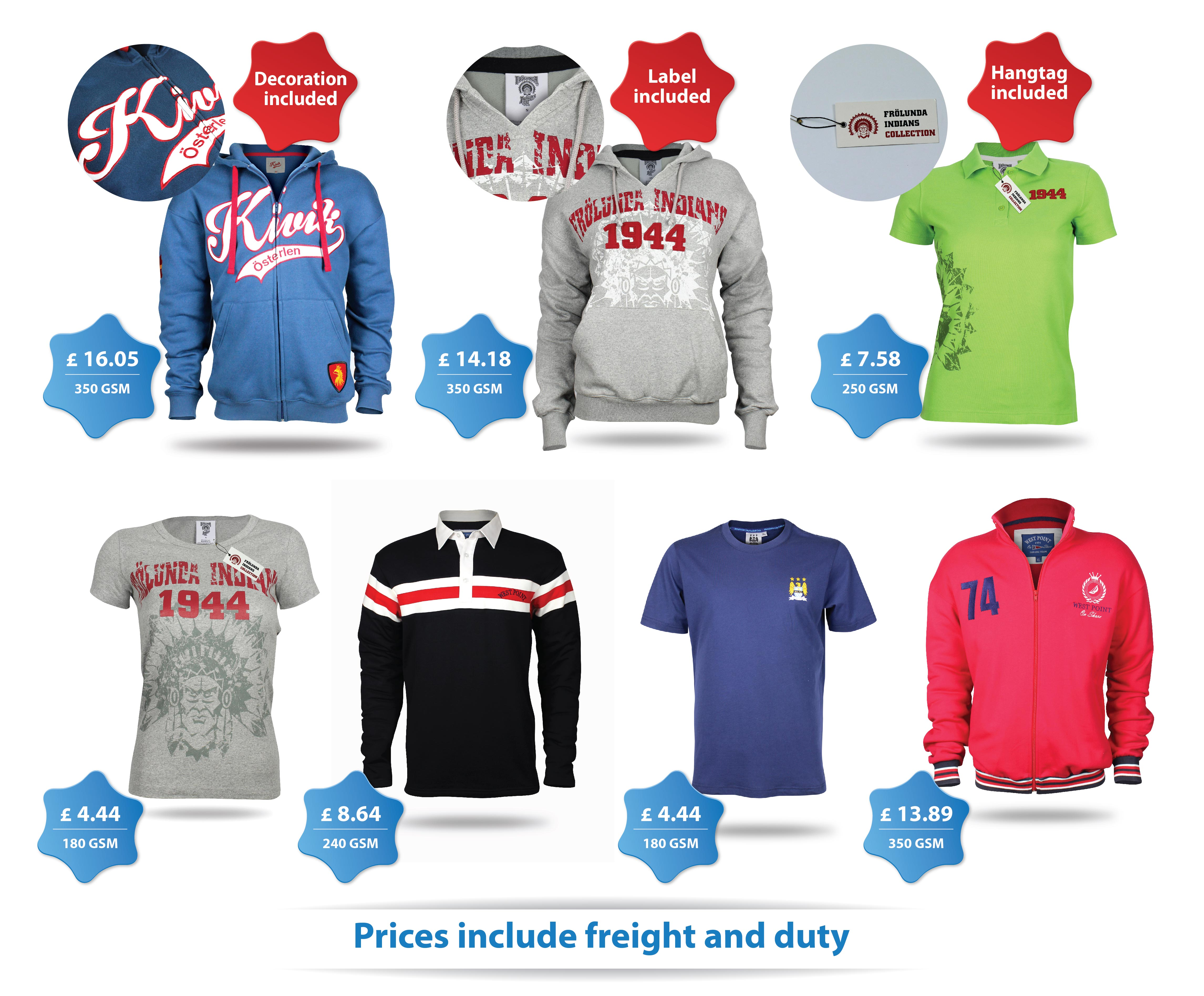 this image shows examples of merchandise for sport clubs
