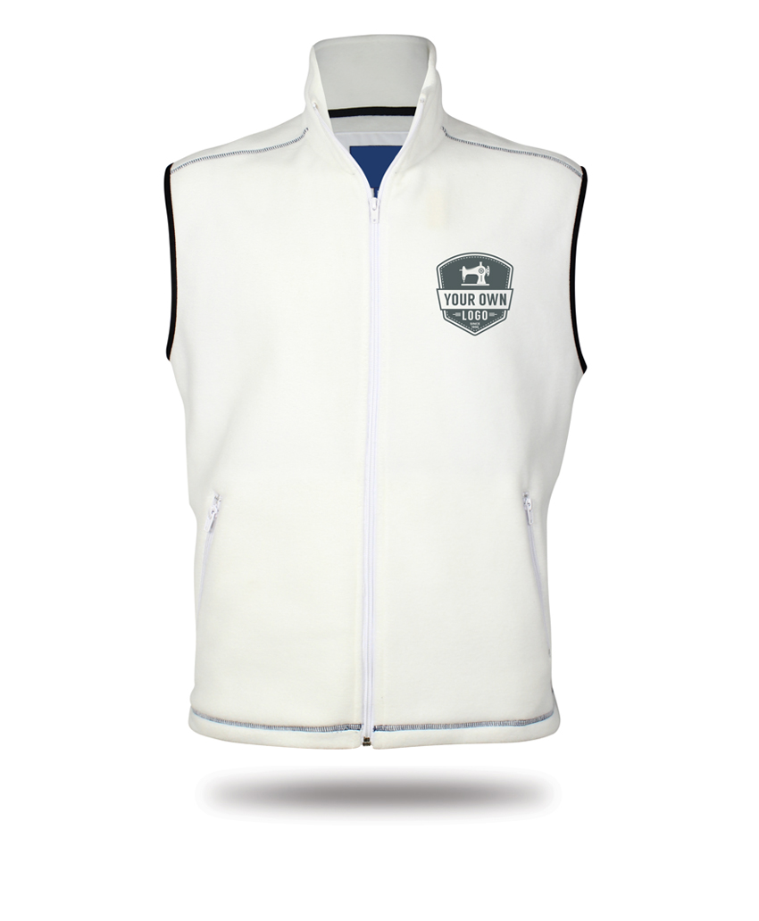 white vest your own logo