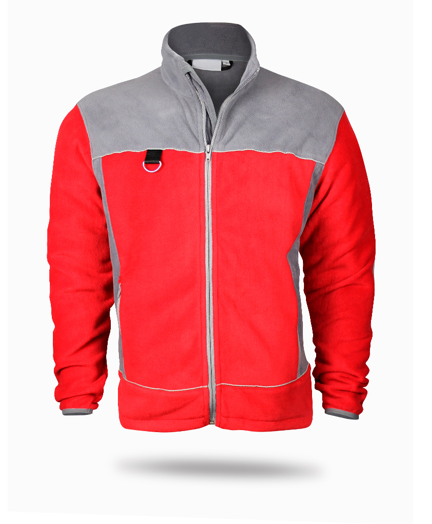 winterpolar jacket red and grey