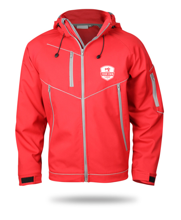 red winter jacket for your own logo