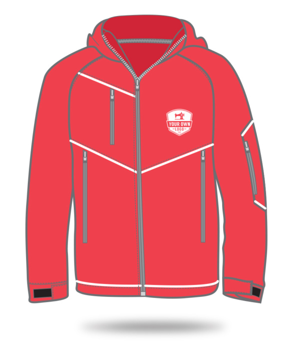 Your Own Logo red winter jacket sketch
