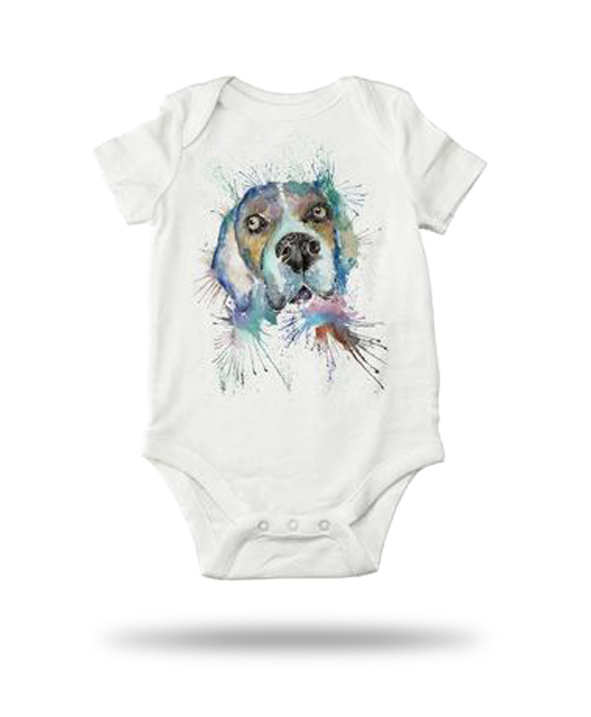 baby suite with dog picture