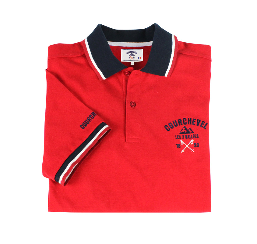 Red Polo for the courchevel Collection