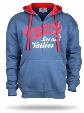 Blue Hoody we design for the Courchevel collection