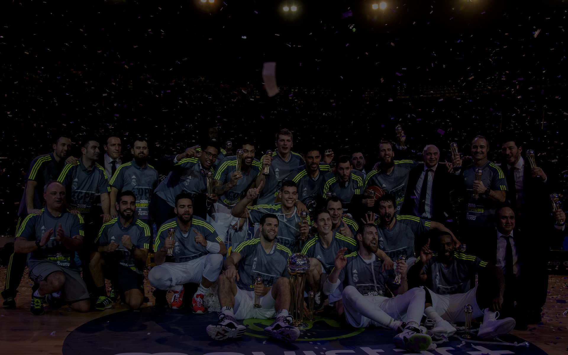 The team of basket ball of the real of madrid