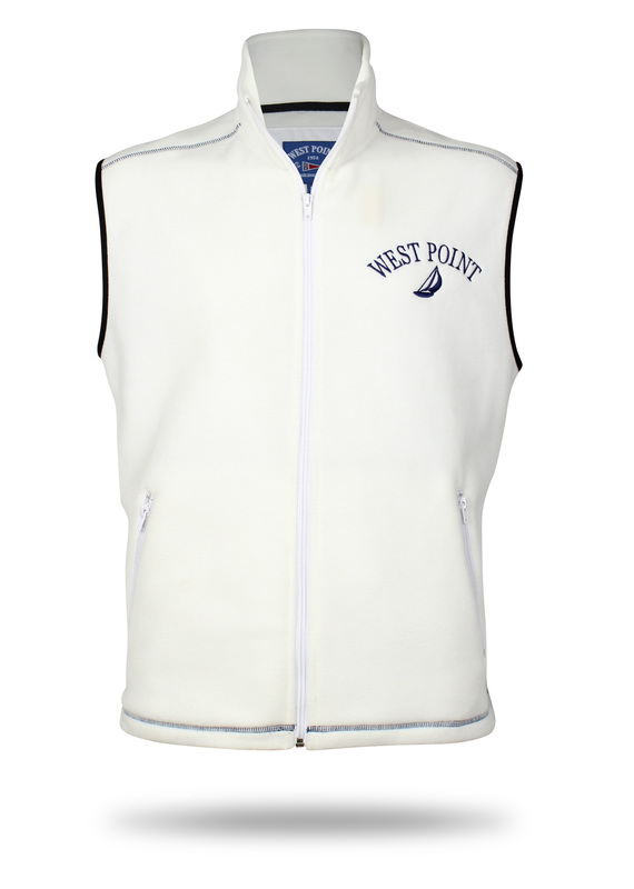 Vest white design for the collection est point