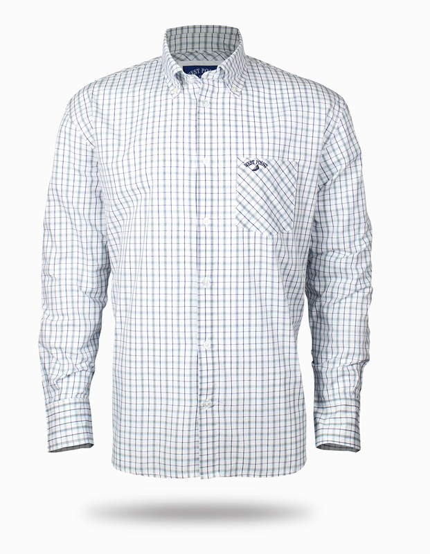 Shirt white an blue for men. This is a design of the collection west point