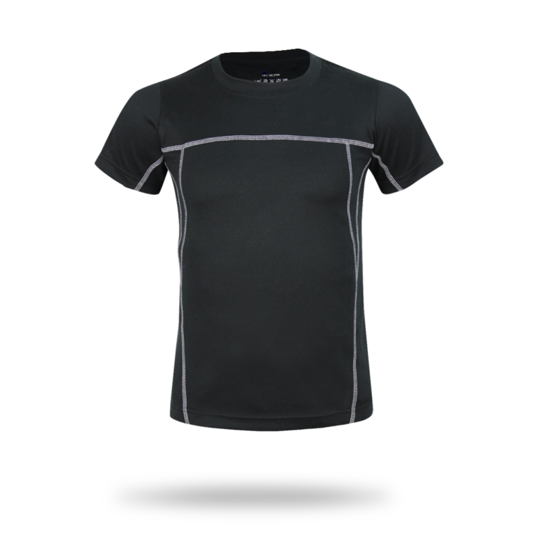 Black jersey for fitness