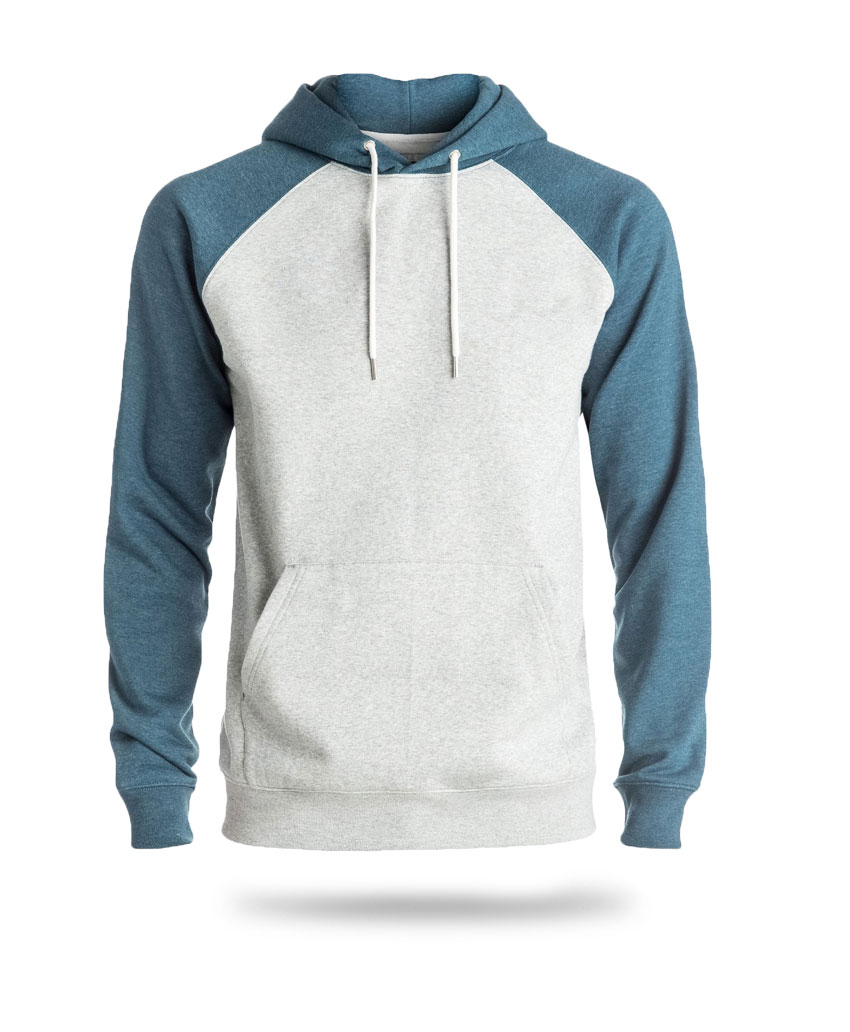 Hoodie white and blue