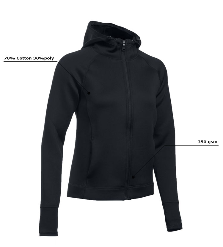the detail of a hoodie