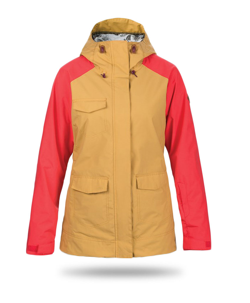 red and yellow jacket