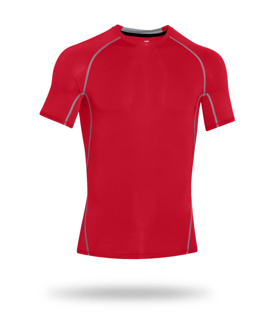 red fitness jersey