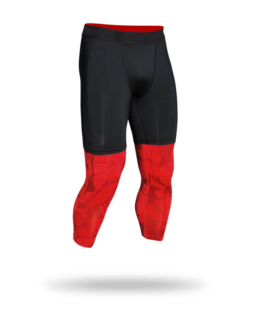 Red and black legging