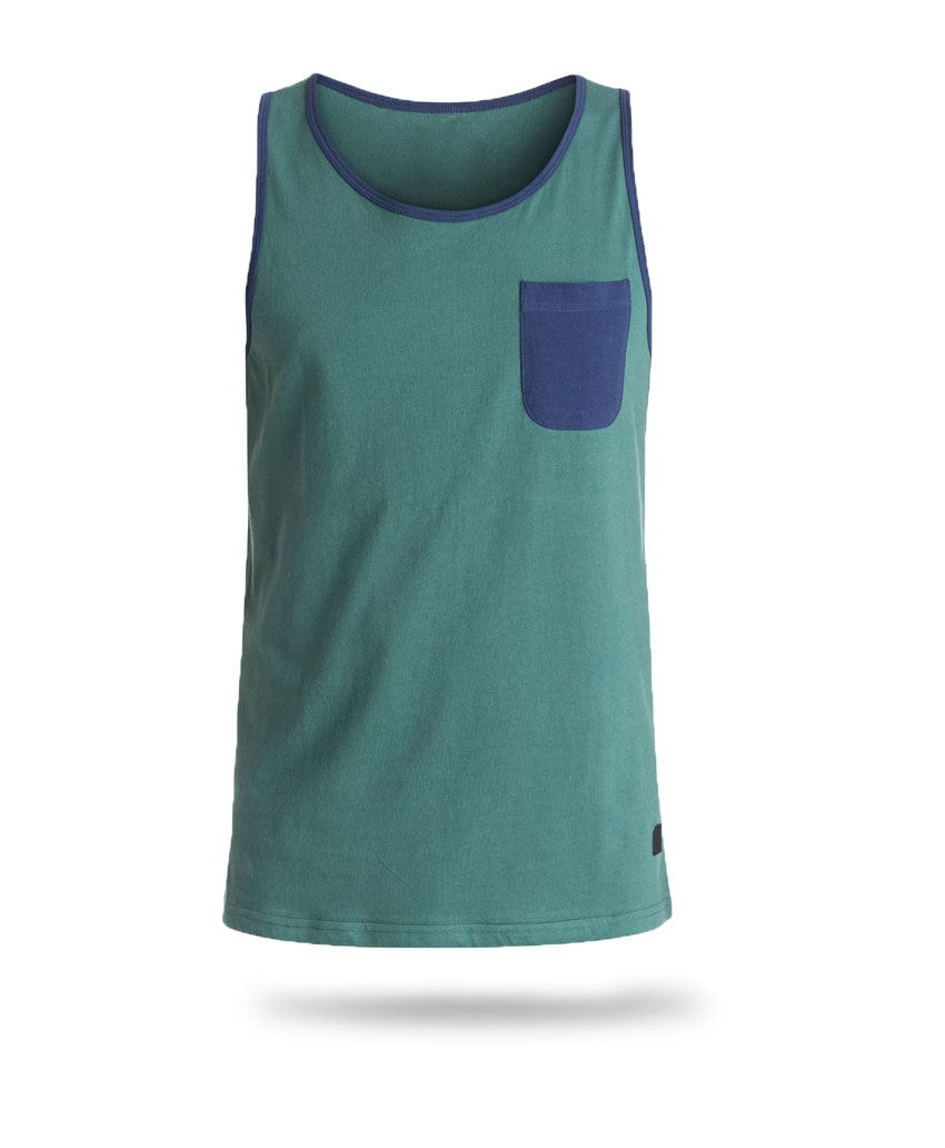 green and blue tank top