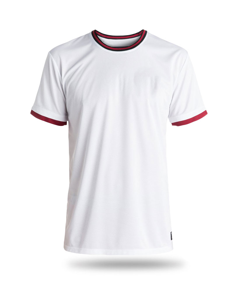 this is a red and white shirt