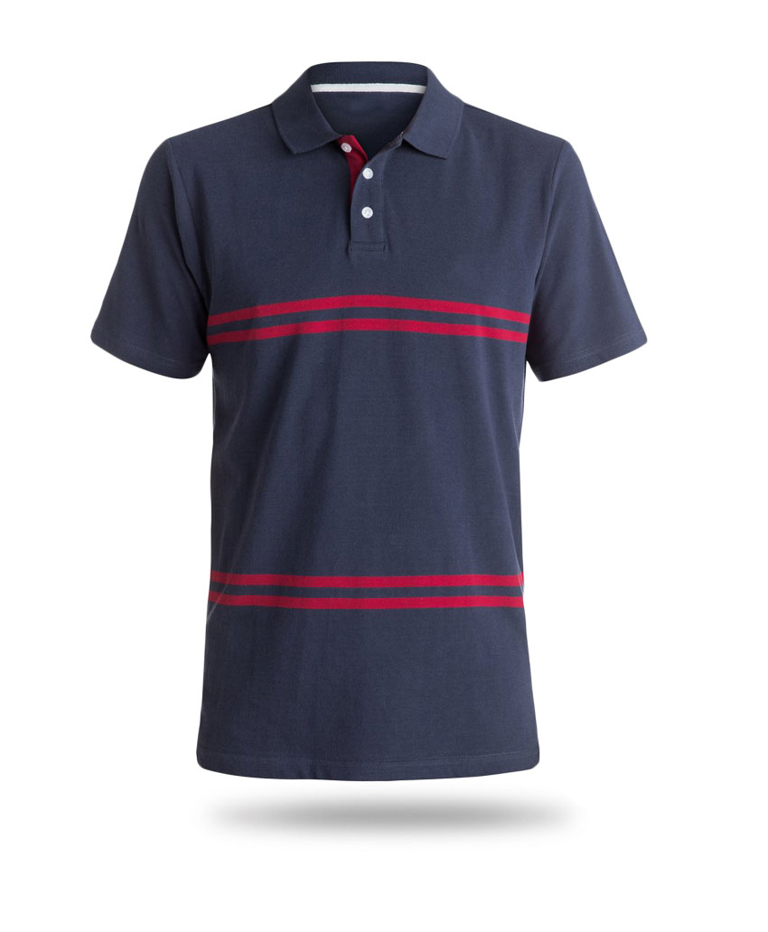 here you can see blue and grey polo