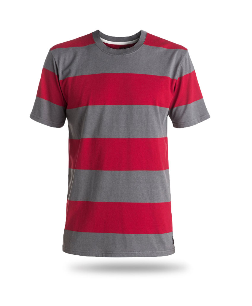 this is a red and grey shirt