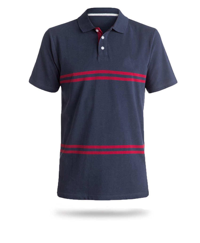 blue and red polo