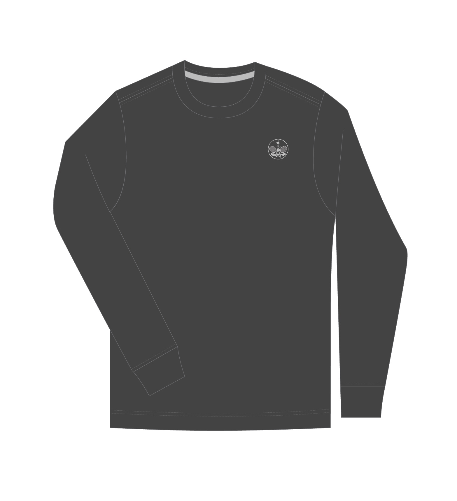 black sweat shirt sketch