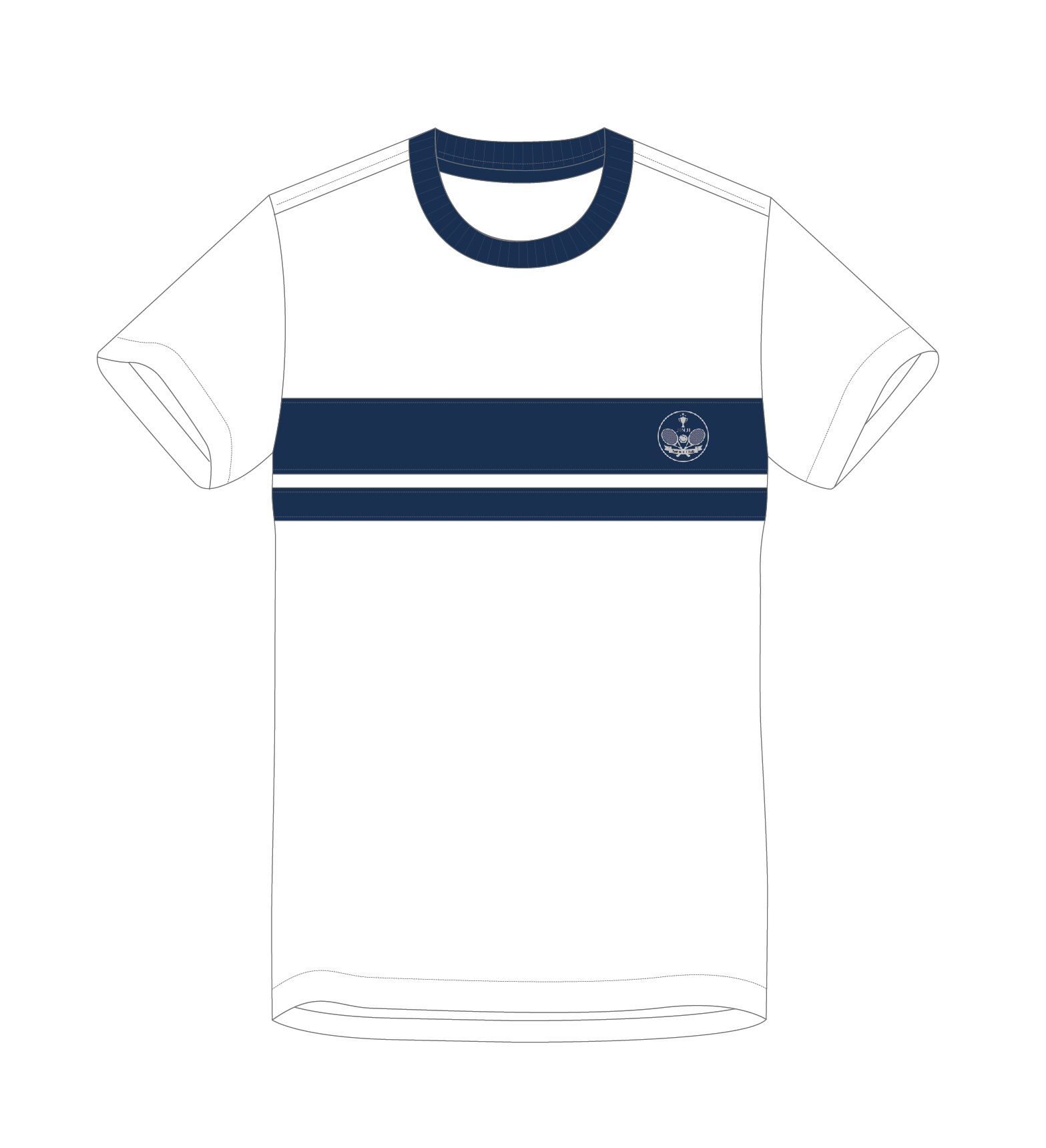 white and blue jersey design sketch