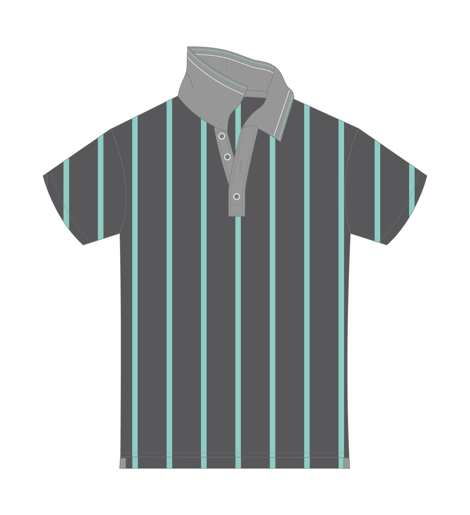 black and green tennis polo sketch
