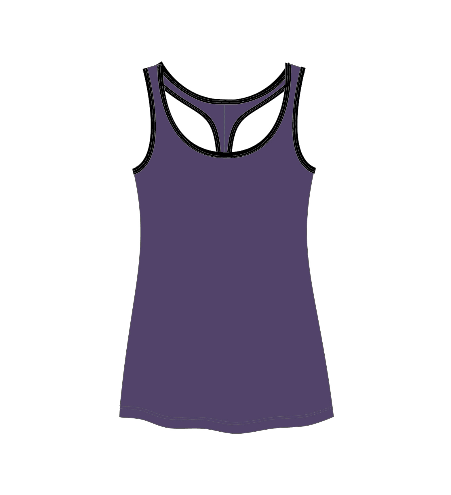 purple tanks top sketch